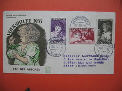 FDC   Sarre   1953  N° 323 à 325  Non Voyagé - FDC