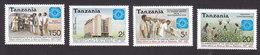 Tanzania, Scott #356-359, Mint Hinged, National Bank Of Commerce, Issued 1987 - Tanzania (1964-...)