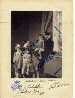 Autographes D'henri D'orleans Comte De Paris +isabelle Comtesse De Paris Armoiries Mme Debra The Children For Peace - Famous People