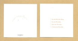 Carte Parfumée Perfume Card EAU DES MERVEILLES * HERMES * R/V - Cartes Parfumées