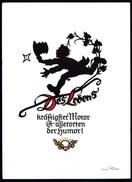 A6953 - Alte Glückwunschkarte - Scherenschnitt Silhouette - Plischke - Kunstverlag K. Pfleumer Zittau - Silhouettes