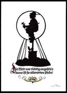 A6956 - Alte Glückwunschkarte - Scherenschnitt Silhouette - Orig. Plischke Karte - Kunstverlag Klaus Pfleumer Zittau TOP - Silhouettes