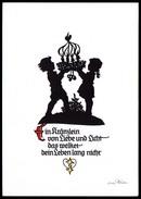 A6958 - Alte Glückwunschkarte - Scherenschnitt Silhouette - Orig. Plischke Karte - Kunstverlag Klaus Pfleumer Zittau TOP - Scherenschnitt - Silhouette