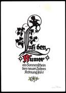 A6959 - Alte Glückwunschkarte - Scherenschnitt - Orig. Plischke Karte - Kunstverlag Klaus Pfleumer Zittau Engel Angel - Scherenschnitt - Silhouette