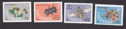 Tanzania, Scott #364-367, Mint Hinged, Insects, Issued 1987 - Tanzania (1964-...)