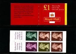 GREAT BRITAIN - 1999  £ 1  BOOKLET   1p/2p/19p/26p  MINT NH  SG FH 43 - Libretti