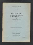 BELGISCHE GRONDWET VAN 7 FEBRUARI 1831 - CONSTITUTION BELGE DU 7 FEVRIER 1831   (OB 002) - Books, Magazines, Comics