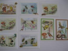 Madagascar-1998-fauna Flora-butterfly,mushroom,snake,birds-MI.1987-00,bl.280-81 - Madagascar (1960-...)