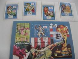 Madagascar-1992-soccer World Cup USA 1994-MI.1399-1402,bl.258 - Madagascar (1960-...)