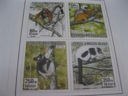 Madagascar-1992-fauna Flora-monkeys-MI.1412-15 - Madagascar (1960-...)