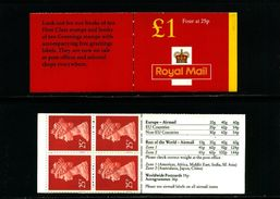 GREAT BRITAIN - 1996  £ 1  BOOKLET   NEW STYLE  4 X 25p  MINT NH  SG FH 40 - Libretti