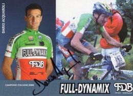 6201  CP Cyclisme  Dario Acquaroli Dédicacée - Cyclisme
