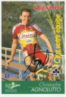 6221  CP Cyclisme   Christophe Agnolutto Dédicacée - Cyclisme