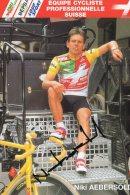 6223  CP Cyclisme   Niki Aebersold  Dédicacée - Cyclisme