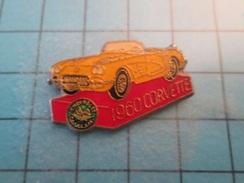 Pin910a Pin´s Pins : BEAU ET RARE : CHEVROLET CORVETTE DE 1960   , Marquage Au Dos : - --- - - Corvette
