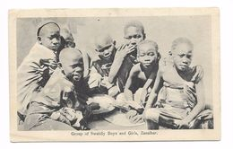 ZANZIBAR (TANZANIE) - GROUP OF SWAHILY BOYS AND GIRLS - Tanzania