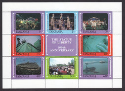 Tanzania, Scott #395, Mint Never Hinged, Statue Of Liberty Cent, Issued 1988 - Tanzania (1964-...)