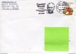 25558 Ceska Rep. Special Postmark 2009 Showing Frantisek Vesely,footballes Fussballspieler,joueur De Football - Storia Postale