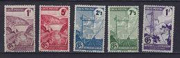 """FR Colis Postaux YT 216A  217A 218A 219A 220A """" Valeur Avec Filigrane"""" 1944-45 Neuf* - Paketmarken"""