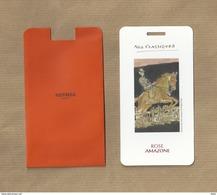 Rare Carte NOS CLASSIQUES ROSE AMAZONE + étui * HERMES - Modern (from 1961)