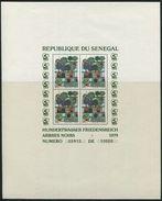 1700 -  Senegal HUNDERTWASSER Mi.Nr Block 34-36 Nummerierte Postfrische Block Serie - Auflage 10'000 - Sénégal (1960-...)