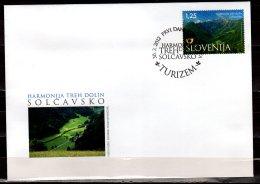 2014 Slovenia - Harmoni Of Three Valleys - Tourism - FDC - Ferien & Tourismus