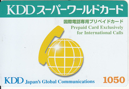 JAPAN - KDD Prepaid Card Y1050, Exp.date 30/09/00, Used - Japan
