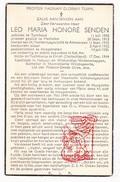DP Sterbebild Krieg 40-45 WO II Concentratiekamp Dora ZEH Leo Senden ° Turnhout BE † Lager Elrich DE Hoogstraten - Devotion Images