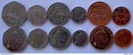 BAILIWICK OF GUERNSEY SERIE 6 MONETE 50-20-10-5-2-1 CENT FDC UNC - Guernsey