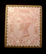 1875 - Enamel QV 2½d , SG 139, Plate 9 . Rare - 1840-1901 (Viktoria)