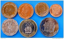 JAMAICA GIAMAICA  SERIE 7 MONETE CON BIMETALLICA FDC UNC - Giamaica