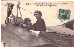 Ambérieu L'aviateur Mercier De L'école D'Ambérieu Sur Monoplan Deperdussin - France