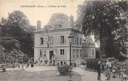 CPA 60 LIANCOURT L HOTEL DE VILLE  1916 Animée - Liancourt