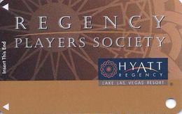 Hyatt Regency Casino - Lake Las Vegas Resort / Henderson, NV - BLANK Slot Card - 47mm Wide Insert Arrows - Casino Cards