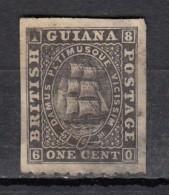 Guiana  1860YT N°22  1c Noir - Guyana Britannica (...-1966)