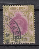 Hong Kong  Edouard VII  20c Vert Olive  YT N°96 - Hong Kong (...-1997)