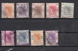 Hong Kong  Elisabeth II    9 Valeurs - Unused Stamps