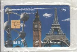 UK/FRANCE - Monuments 1, Eurostar Third Issue, Satellite Card 120 Units, Tirage 20000, 06/97, Mint - Ver. Königreich