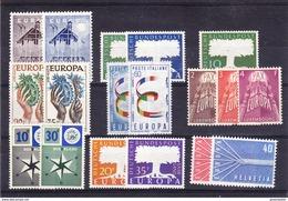 Europa Cept 1957 Year Set 9 Countries 18 Values ** Mnh (original Gum !!!) (36081) - Europa-CEPT