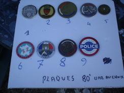 Plaques De Police Neuve Dans Leur écrin,au Choix,vente à L'unité - Police