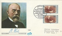 Robert Koch - Centenary Of Discovery  Of Tubercle Bacillus. Fdc. Germany.  H-1158 - Medicine