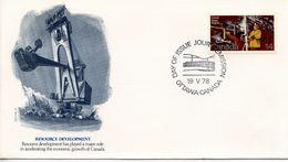 CANADA - 1977 RESOURCE DEVELOPMENT   FDC310 - 1952-.... Reign Of Elizabeth II