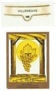 Rare // Etiquette // Villeneuve 1981, Vin Pour Le C.R.I.E. Société Des Viticulteurs De Villeneuve, Vaud // Suisse - Etiquettes