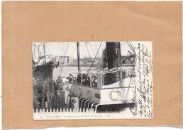 LE HAVRE - 76 - CPA DOS SIMPLE - Le Débarquement Du Bateau De Trouville - LYO1 - - Port