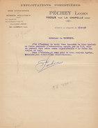 Lucien Péchey ,exploitant Forestier à Yvoux Par La Chapelle , Vosges ,courrier De 1958 - 1950 - ...