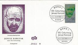 Birth Centenary Of Januz Korczak. Educationsal Reformer,   Fdc. Germany.  H-1167 - Timbres