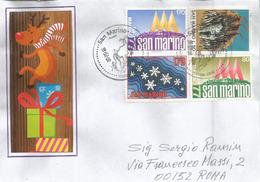 La Fête De Noël à San Marino (Saint Marin), Sur Lettre Adressée à Roma - Christmas