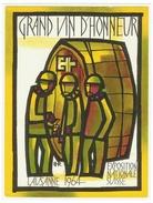Rare // Etiquette // Vin D'honneur De L'exposition Nationale Suisse Lausanne 1964 // Suisse - Etiquettes
