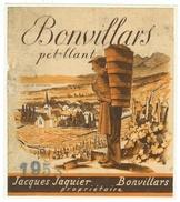Rare // Etiquette // Bonvillars 1953, Jacques Jaquier, Bonvillars, Vaud // Suisse - Etiquettes