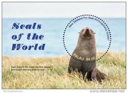 Palau 2017 Animals, Fauna And Flora, Marine Life Seals S/s-I70110 - Marine Life